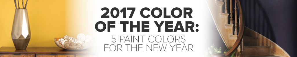 2017 Color of the Year: 5 Paint Colors for the New